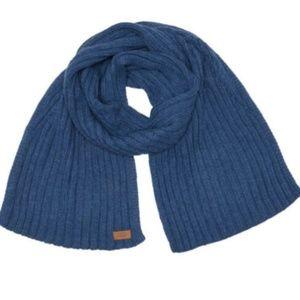 "NWT UGG Blue Ribbed Knit Scarf 74x12"""